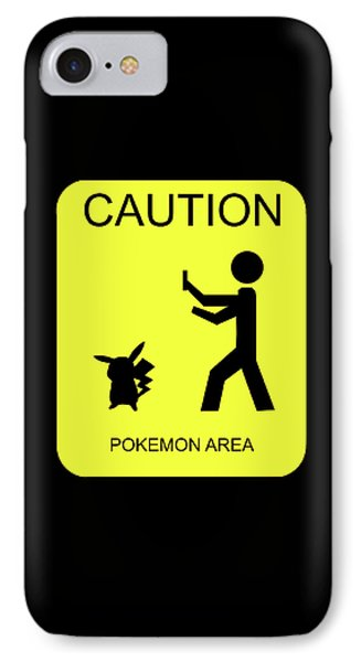 IPhone Case featuring the digital art Pokemon Area by Shane Bechler