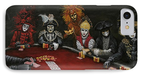 IPhone Case featuring the painting Poker Face II by Jason Marsh