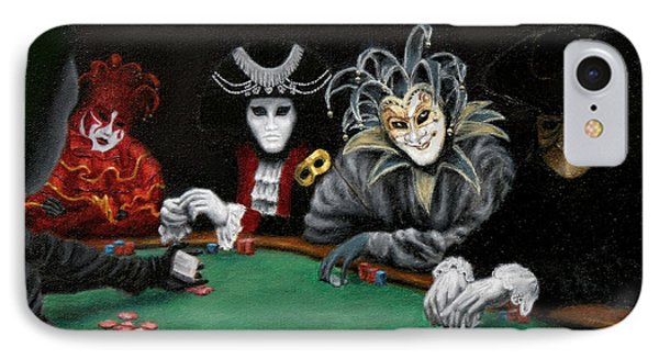 IPhone Case featuring the painting Poker Face by Jason Marsh
