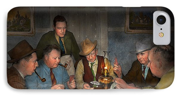 Poker - Poker Face 1939 IPhone Case by Mike Savad
