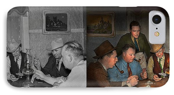 Poker - Poker Face 1939 - Side By Side IPhone Case by Mike Savad