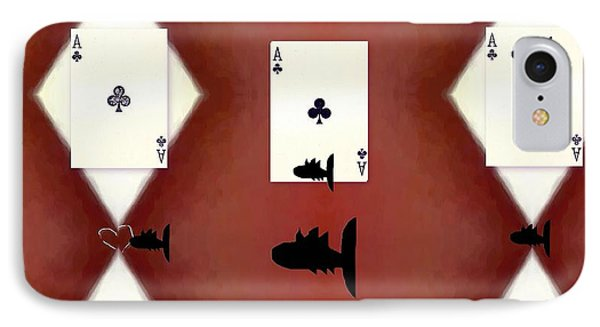 Poker Sharks IPhone Case by Pepita Selles