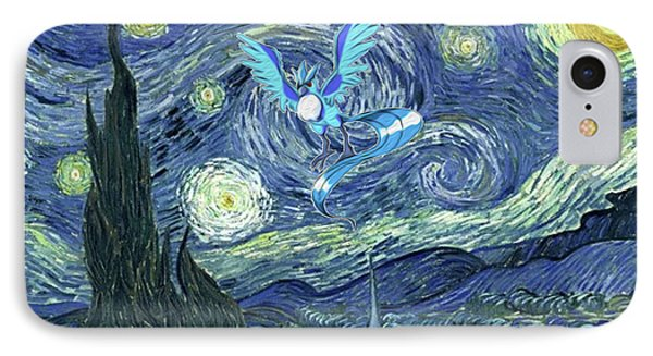 IPhone Case featuring the digital art Pokevangogh Starry Night by Greg Sharpe