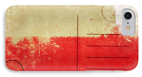 Poland Flag Postcard IPhone Case