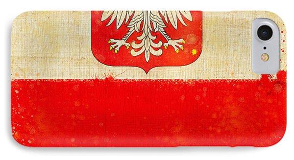 Poland Flag Phone Case by Setsiri Silapasuwanchai