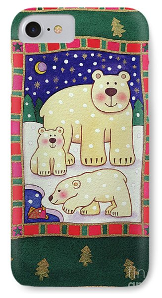 Polar Bear And Cubs IPhone Case by Cathy Baxter