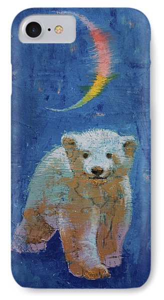Polar Bear Cub IPhone Case by Michael Creese
