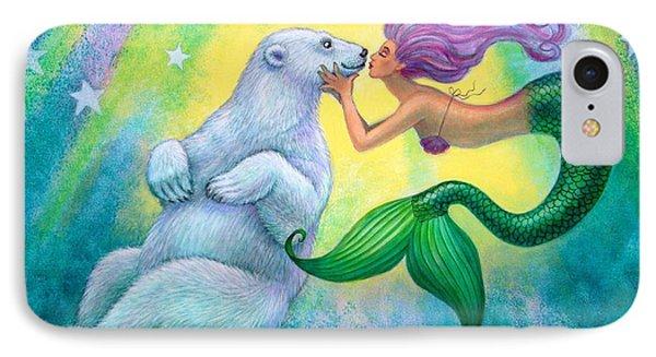 Polar Bear Kiss IPhone Case by Sue Halstenberg