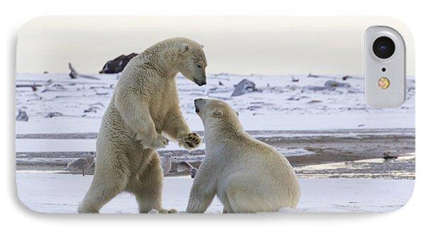 Polar Bear Play-fighting IPhone Case
