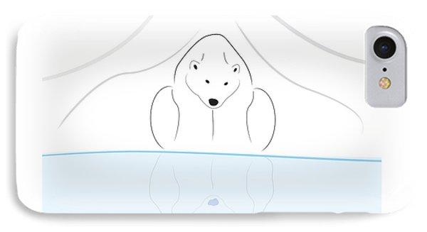 Polar Bear Reflection IPhone Case by Greg Slocum