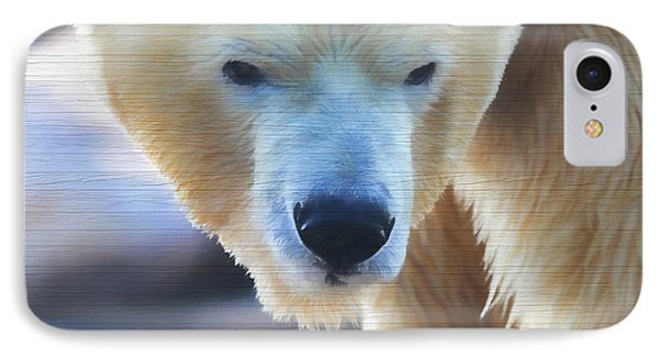 Polar Bear Wooden Texture IPhone Case by Dan Sproul