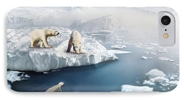Polar Bears IPhone Case by Thanh Thuy Nguyen