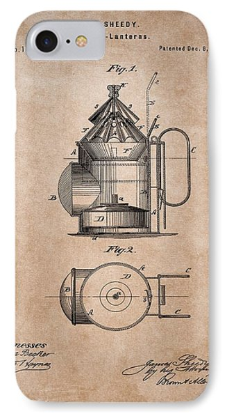 Police Lantern Patent IPhone Case by Dan Sproul