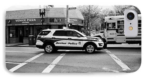 police police ford interceptor suv patrol vehicle on call Boston USA IPhone Case