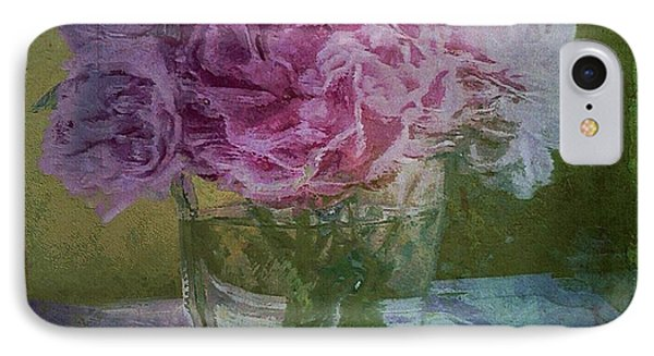 IPhone Case featuring the digital art Polite Peonies by Alexis Rotella