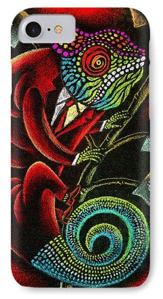 Political Chameleon IPhone Case by Leon Zernitsky
