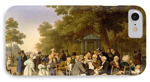 Politicians In The Tuileries Gardens IPhone Case by Louis Leopold Boilly