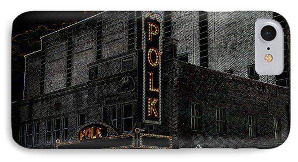 Polk Movie House IPhone Case by David Lee Thompson