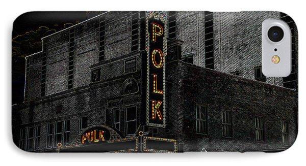 Polk Movie House IPhone Case by David Lee Thompson