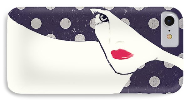 Polka Dot Fashion Hat IPhone Case by Mindy Sommers