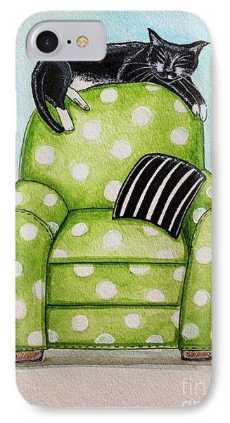 Polka Dot Snoozes IPhone Case by Elizabeth Robinette Tyndall