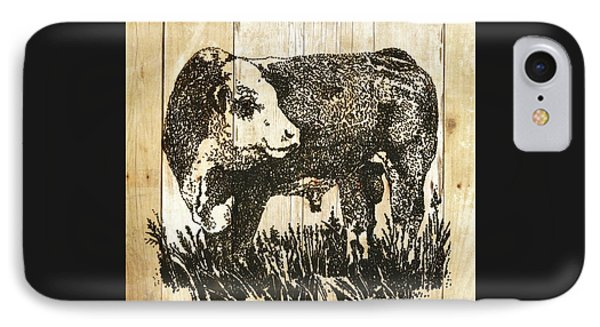 IPhone Case featuring the photograph Polled Hereford Bull 11 by Larry Campbell