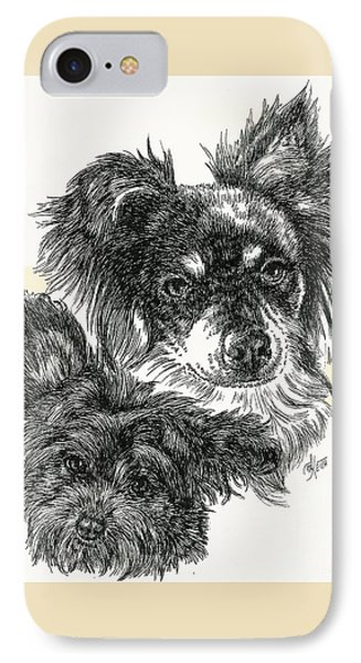 Pomapoo Father And Son Phone Case by Barbara Keith