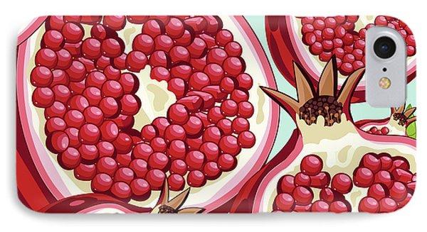 Pomegranate   IPhone 7 Case by Mark Ashkenazi