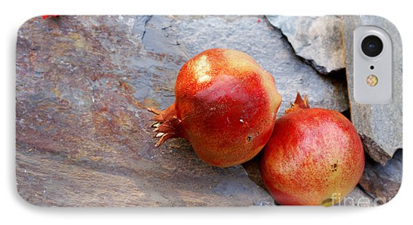 IPhone Case featuring the photograph Pomegranates On Stone by Cindy Garber Iverson