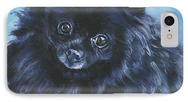 Pomeranian Black Phone Case by Lee Ann Shepard