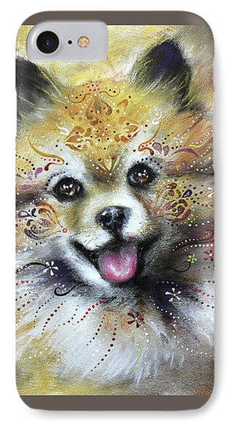 Pomeranian IPhone Case by Patricia Lintner