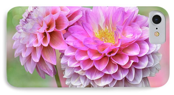 IPhone Case featuring the photograph Pompon Dahlias by John Poon