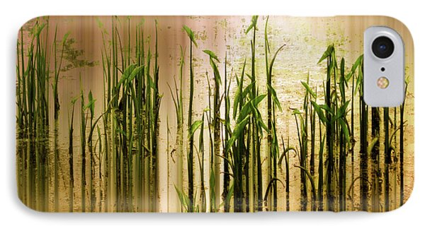 IPhone Case featuring the photograph Pond Grass Abstract   by Jessica Jenney