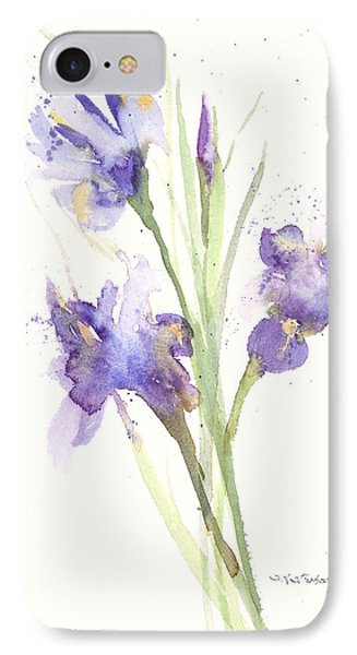 IPhone Case featuring the painting Pond Iris by Sandra Strohschein