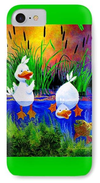 Pond Pals IPhone Case by Hanne Lore Koehler