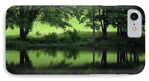 Pond Reflect Phone Case by Karol Livote