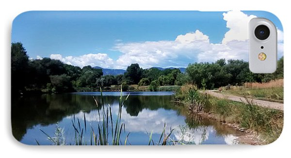 Pond Reflections At Bear Creek Trail Colorado IPhone Case by Gretchen Wrede