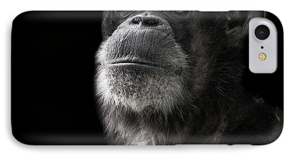 Chimpanzee iPhone 7 Case - Ponder by Paul Neville