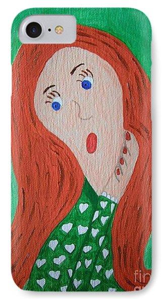 Pondering Redhead Phone Case by Jeannie Atwater Jordan Allen