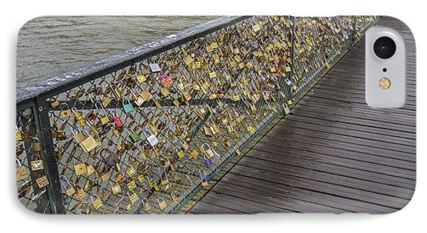 Pont Des Artes IPhone Case by Allen Sheffield