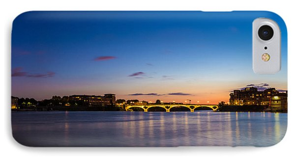 IPhone Case featuring the photograph Pont Des Catalans And Garonne River At Night by Semmick Photo