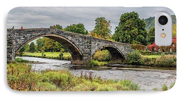 Pont Fawr Bridge Llanrwst IPhone Case by Adrian Evans