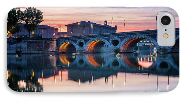 IPhone Case featuring the photograph Pont Neuf In Toulouse At Sunset by Elena Elisseeva
