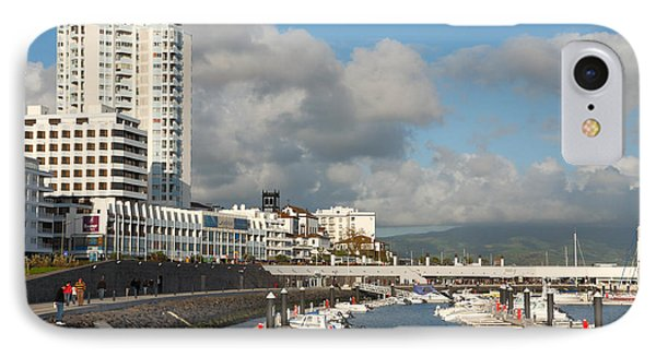 Ponta Delgada Waterfront Phone Case by Gaspar Avila