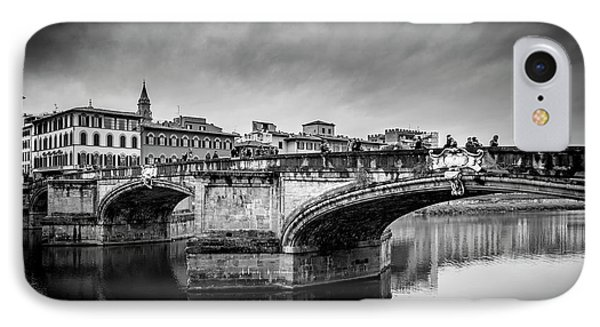 IPhone Case featuring the photograph Ponte Santa Trinita by Sonny Marcyan