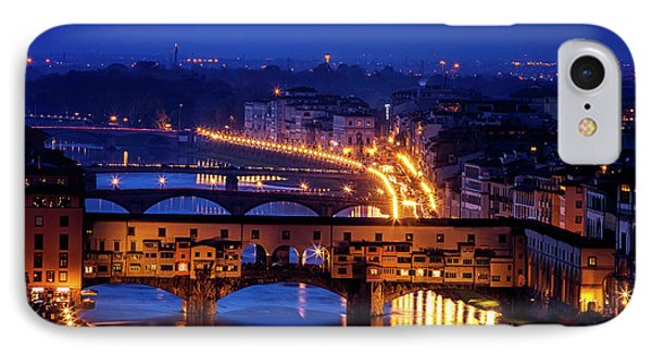 IPhone Case featuring the photograph Ponte Vecchio At Twilight by Andrew Soundarajan