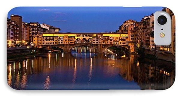 IPhone Case featuring the photograph Ponte Vecchio Dusk  by Harry Spitz