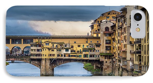 IPhone Case featuring the photograph Ponte Vecchio E Gabbiani by Sonny Marcyan