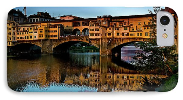 IPhone Case featuring the photograph Ponte Vecchio From West  by Harry Spitz