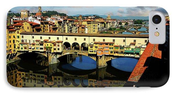 Ponte Vecchio View  IPhone Case by Harry Spitz